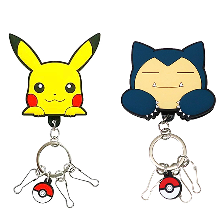 橡膠夾鑰匙扣 皮卡丘 卡比獸 神奇寶貝 寶可夢 POKEMON 日本進口正版授權