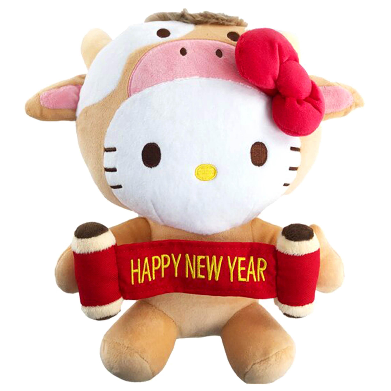 沙包絨毛玩偶 牛年 過年 HAPPY NEW YEAR 凱蒂貓 HELLO KITTY 三麗鷗 Sanrio Original 日本進口正版授權