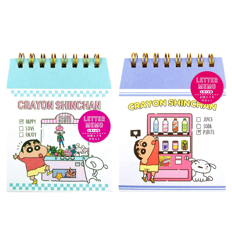 信套組 蠟筆小新 LETTER MEMO Crayon Shin Chain クレヨンしんちゃん 日本進口正版授權