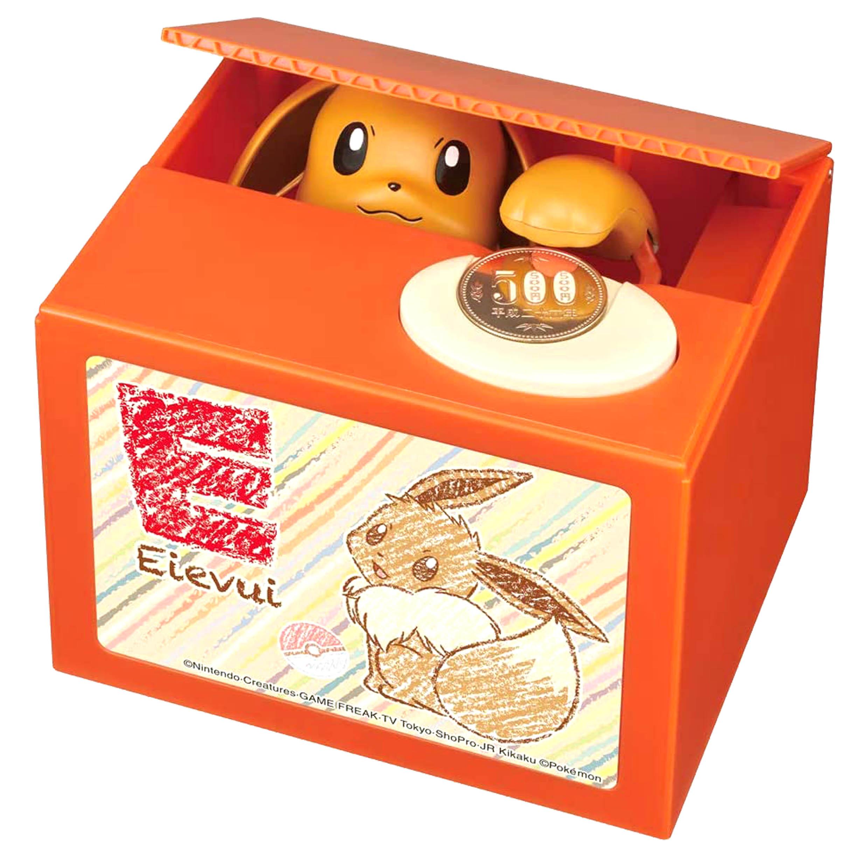 扒手存錢箱 伊布 神奇寶貝 寶可夢 POKEMON SHINE 存錢筒 日本進口正版授權