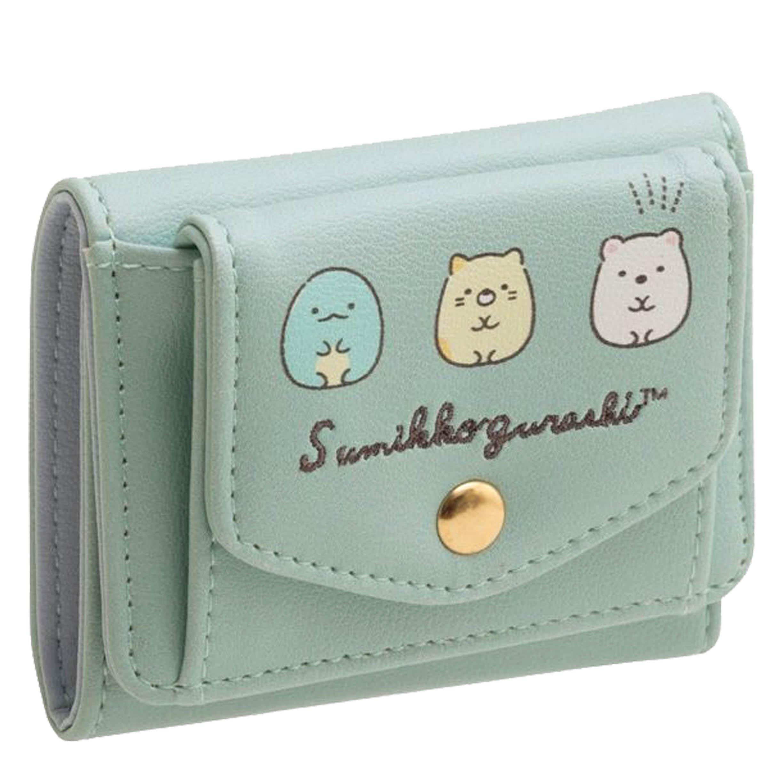 荔枝皮扣式短夾 角落生物 Sumikkogurashi san-x 皮夾 零錢包 日本進口正版授權