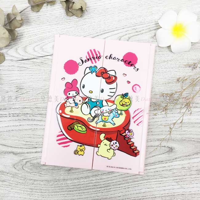 三面立鏡 Kitty 凱蒂貓 三麗鷗 Sanrio 美樂蒂 Melody 布丁狗 鏡子 化妝鏡 正版授權