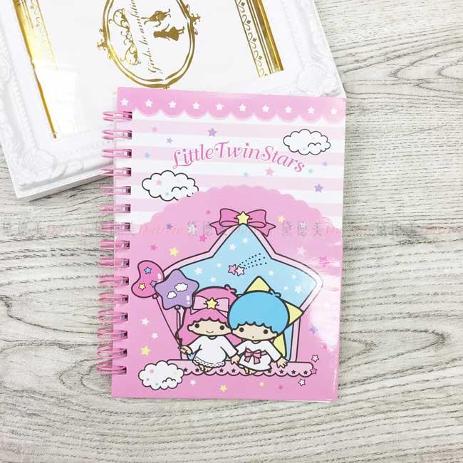 造型夾袋筆記本 雙子星 kikilala 三麗鷗 Sanrio 記事本 正版授權