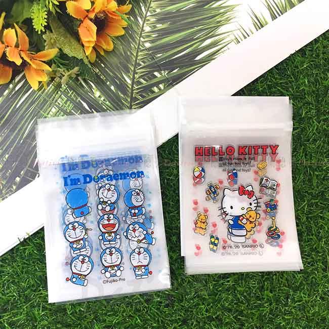 透明夾鏈袋(S) 10入 凱蒂貓 哆啦A夢 HELLO KITTY DORAEMON 三麗鷗 Sanrio 日本進口正版授權