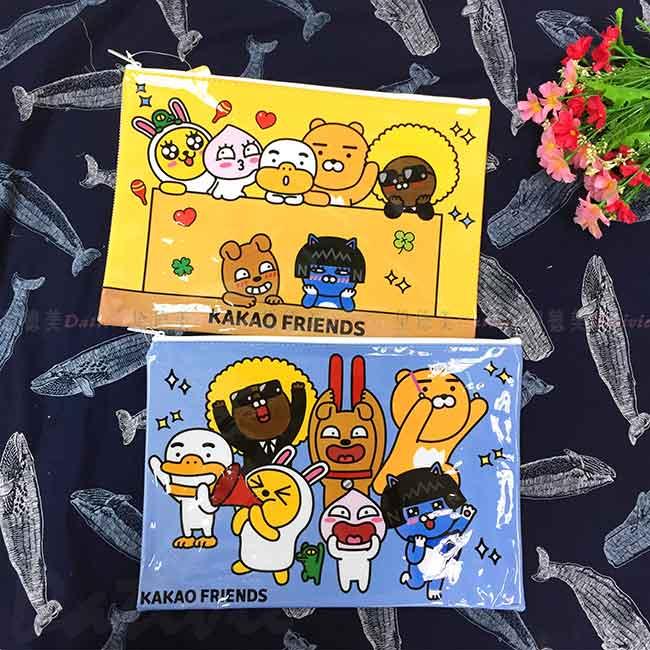 A4 網狀資料袋 KAKAO FRIENDS 資料收納袋 正版授權