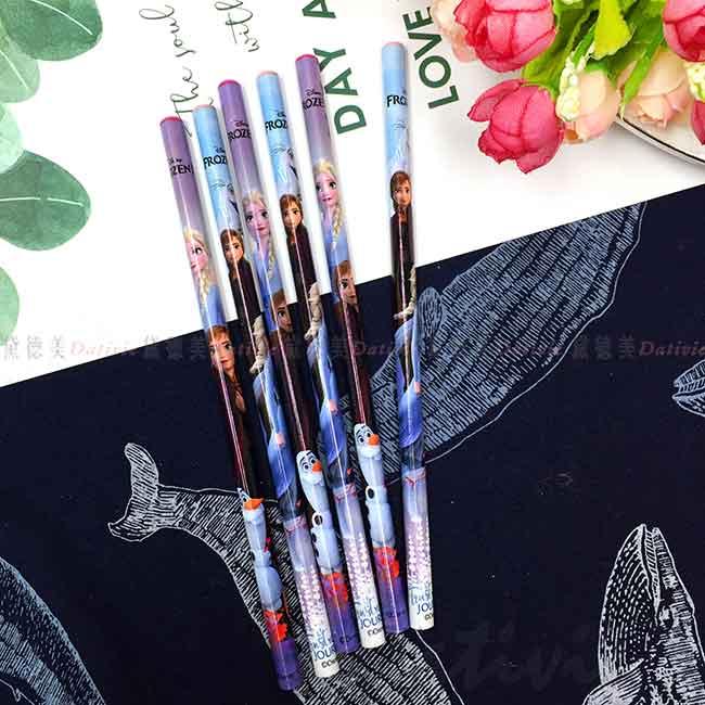 圓桿木頭鉛筆 6入 冰雪奇緣 FROZEN 迪士尼 DISNEY 正版授權