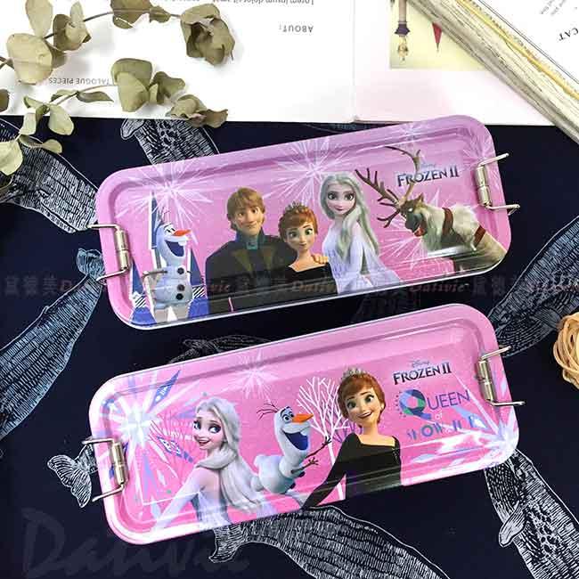 鐵扣三層鐵筆盒 冰雪奇緣 FROZEN 迪士尼 DISNEY 鉛筆盒 正版授權