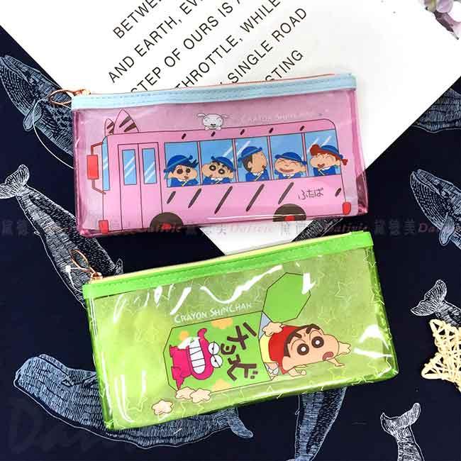 透明防水筆袋 鱷魚餅乾 娃娃車 蠟筆小新 Crayon Shin Chain クレヨンしんちゃん 正版授權