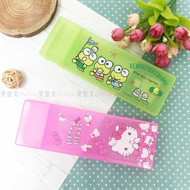 塑膠果凍筆盒 Sanrio Party 凱蒂貓 三麗鷗 Hello kitty 大眼蛙 正版授權