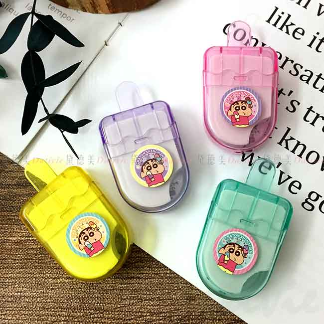 冰棒造型橡皮擦 蠟筆小新 クレヨンしんちゃん Crayon Shin Chain 擦布 日本進口正版授權