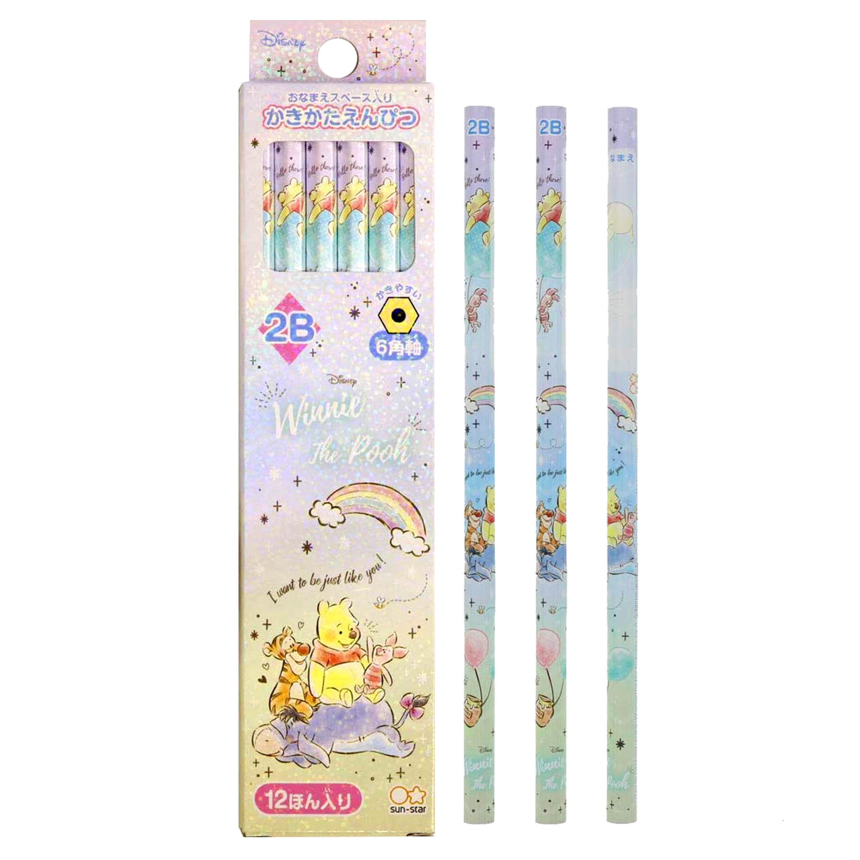 2B六角木頭鉛筆 12入 小熊維尼 POOH SUN-STAR 迪士尼 DISNEY 日本進口正版授權