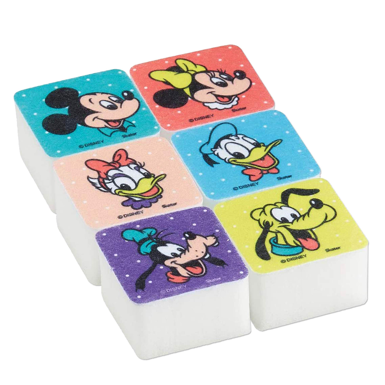 方形小海棉 6入 米奇 米妮 唐老鴨 高飛狗 迪士尼 DISNEY 日本進口正版授權