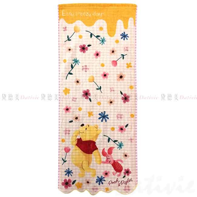 純棉割絨長毛巾 34x80cm 小熊維尼 POOH 迪士尼 DISNEY 日本進口正版授權