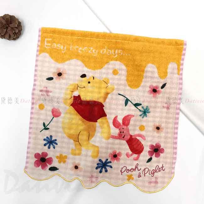 純棉割絨毛巾 34x36cm 小熊維尼 POOH 迪士尼 DISNEY 方巾 日本進口正版授權