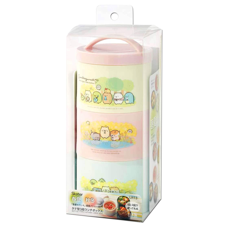 瓶型三層保鮮盒 480ml SKATER 角落生物 Sumikkogurashi san-x 角落小夥伴 餐盒 日本進口正版授權