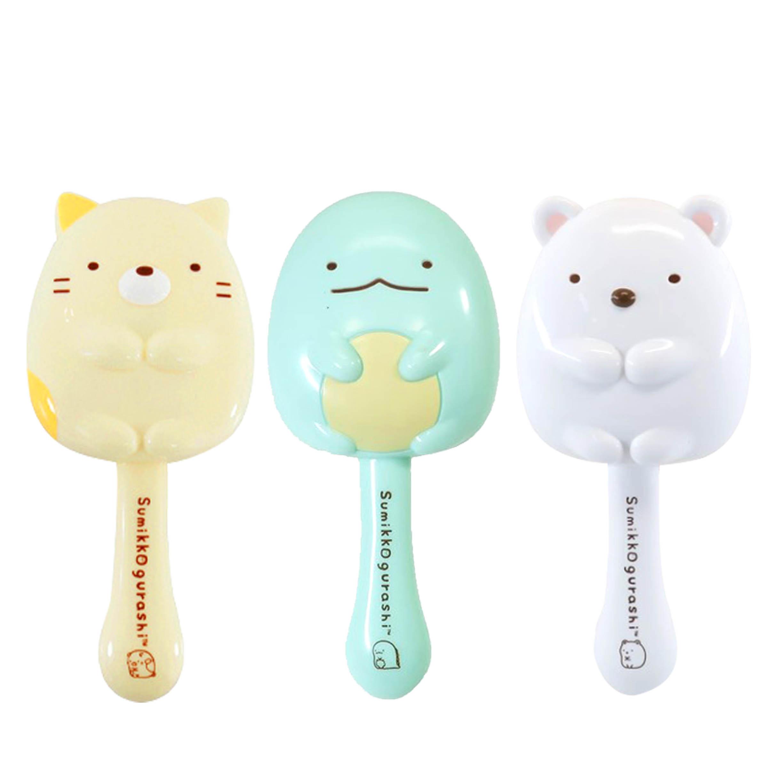 造型塑膠氣墊梳子 白熊 貓咪 恐龍 角落生物 Sumikkogurashi san-x 角落小夥伴 日本進口正版授權