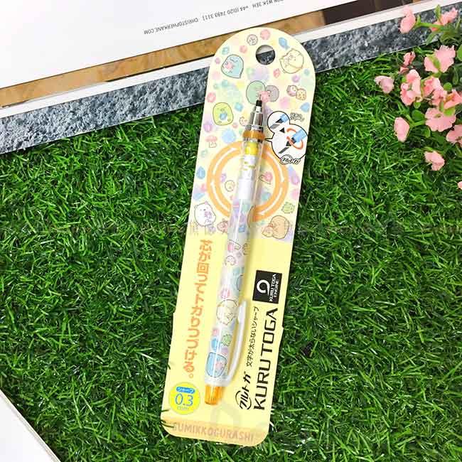旋轉筆芯自動鉛筆 0.3mm KURUTOGA 三菱 角落生物 sumikko gurashi san-x 角落小夥伴 日本進口正版授權