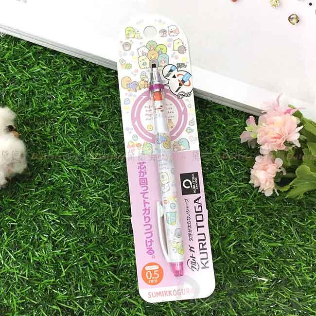 旋轉筆芯自動鉛筆 0.5mm KURUTOGA 三菱 角落生物 sumikko gurashi san-x 角落小夥伴 日本進口正版授權