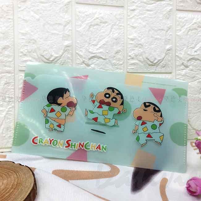 蠟筆小新橫式收納夾口罩夾 クレヨンしんちゃん Crayon Shin Chain 口罩收納袋 睡衣 正版授權