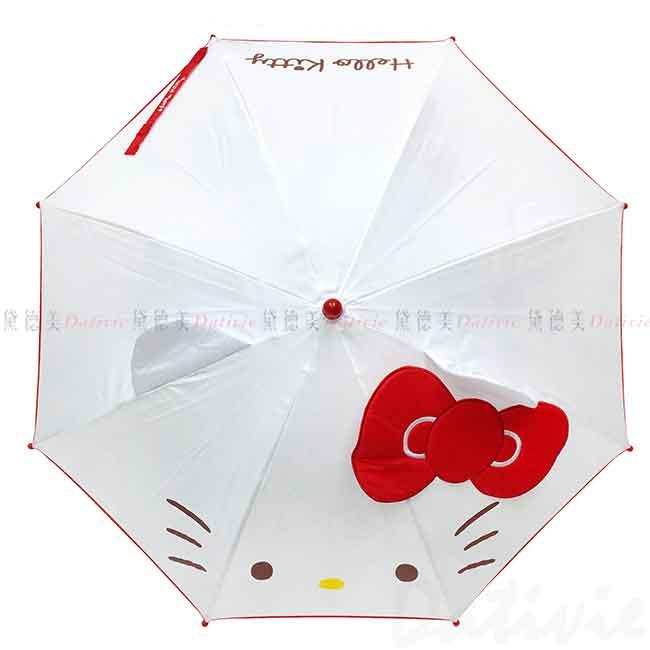 大蝴蝶結造型直傘 45cm 凱蒂貓 HELLO KITTY 三麗鷗 Sanrio 兒童傘 正版授權