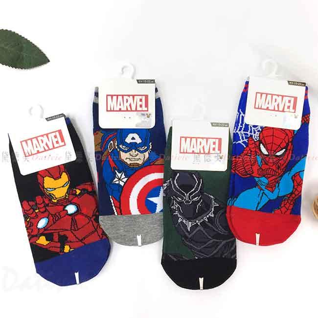 直版襪 15~22cm 兒童襪 卡通襪子 鋼鐵人 美國隊長 蜘蛛人 黑豹 Spider Man Iron Man Captain Black Panther 復仇者聯盟 AVENGERS 漫威 MAVEL 迪士尼 DISNEY 正版授權