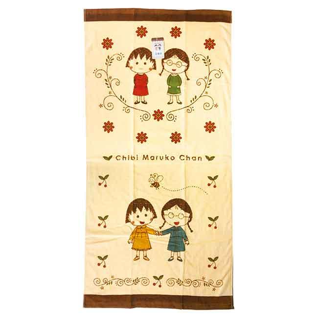 純棉大浴巾 櫻桃小丸子 ちびまる子ちゃん Chibi Maruko Chan 毛巾 日本進口正版授權