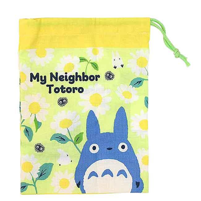 棉質束口袋 日本 宮崎駿 豆豆龍 SKATER 龍貓 收納袋 日本進口正版授權