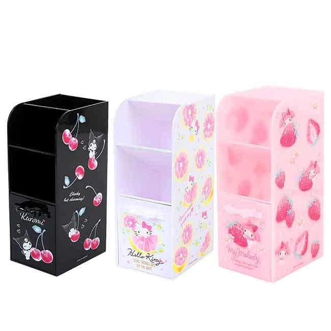 桌上收納櫃 Sanrio Original 美樂蒂 KITTY 酷洛米 收納盒 日本進口正版授權