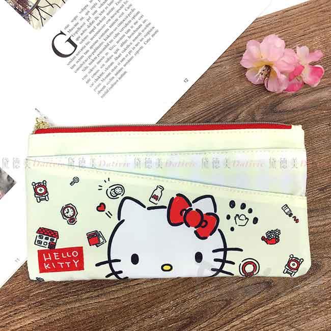 多功能筆袋 sanrio 凱蒂貓 HELLO KITTY 三麗鷗 拉鍊筆袋 日本進口正版授權