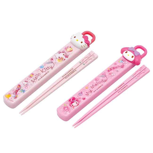 筷子附盒 sanrio 凱蒂貓 美樂蒂 SKATER 三麗鷗 餐具 日本進口正版授權