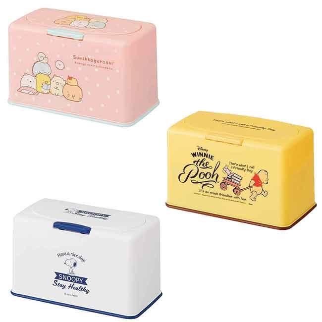 口罩收納盒 迪士尼 維尼 史努比 角落生物 SKATER 置物盒 日本進口正版授權