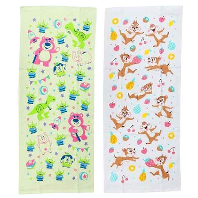 純棉紗布毛巾2入 迪士尼 皮克斯 奇奇蒂蒂 玩具總動員 純棉毛巾 日本進口正版授權