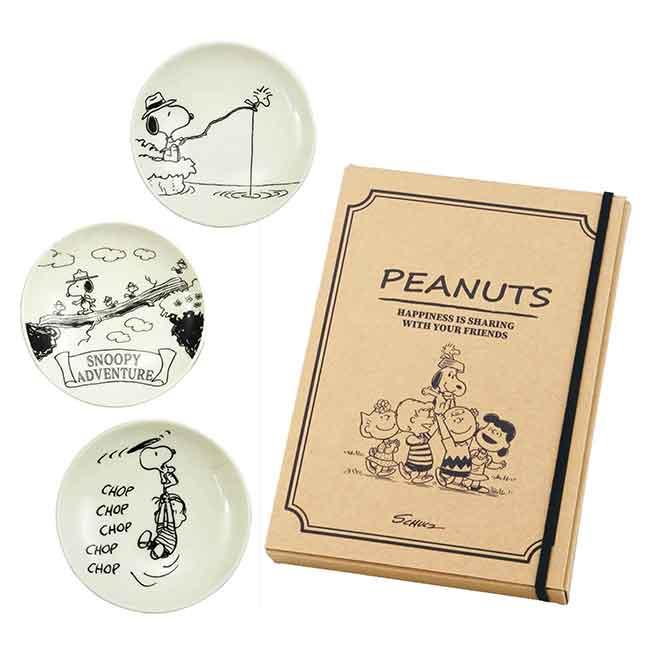 陶瓷小碟子3入 日本 史努比 YAMAKA 山家商店 PEANUTS 小盤子 日本進口正版授權