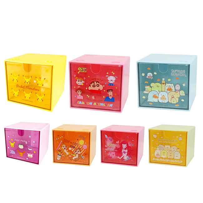 抽屜收納盒 Disney 小美人魚 寶可夢 角落生物 蠟筆小新 置物盒 日本進口正版授權