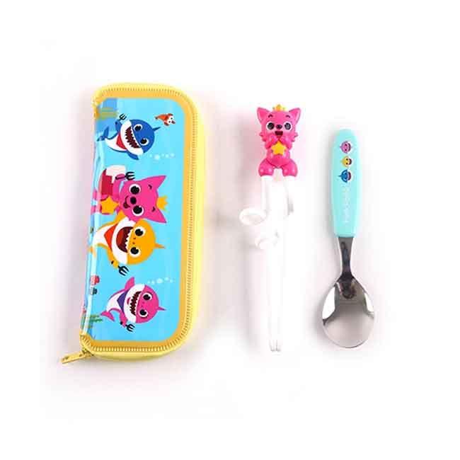 碰碰狐兒童學習筷組 韓國 練習筷 幼童筷子湯匙組 韓國進口正版授權