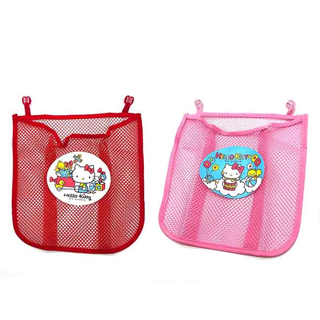 吸盤式收納籃 三麗鷗 凱蒂貓 HELLO KITTY 收納袋 日本進口正版授權