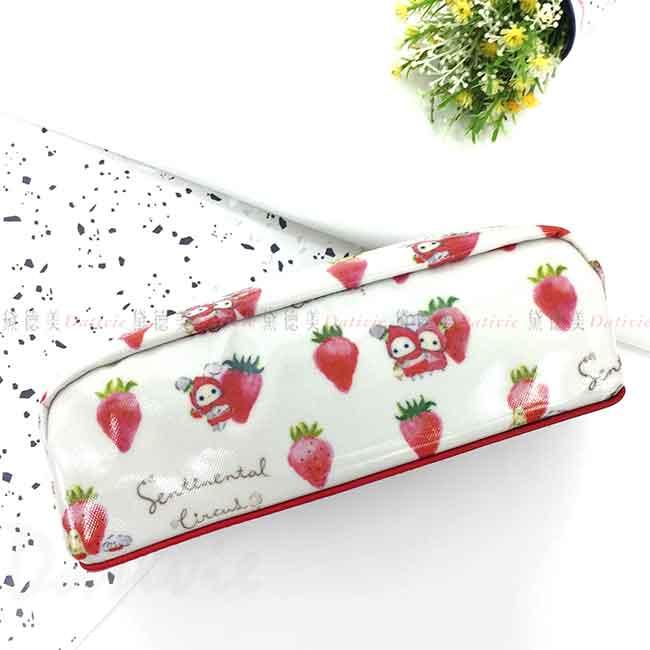 亮皮筆袋 San-x 憂傷馬戲團 尋找草莓的眼淚 Sentimental Circus 拉鍊筆袋 日本進口正版授權