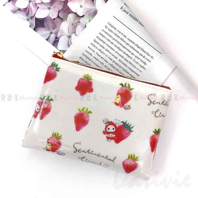 防水扣式面紙零錢包 san-x 憂傷馬戲團 附面紙 尋找草莓的眼淚 深情馬戲團 面紙包 日本進口正版授權