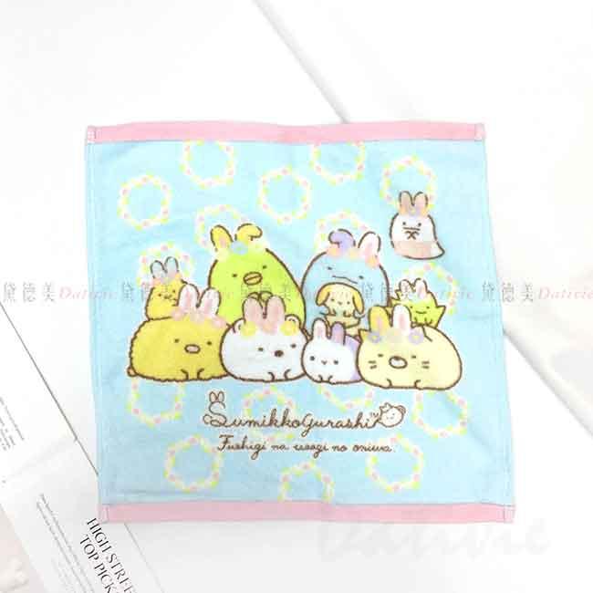 純棉印花方巾 san-x 角落生物 角落小夥伴 純棉毛巾 日本進口正版授權