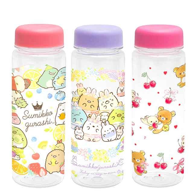 塑膠冷水瓶 san-x 拉拉熊 懶懶熊 角落小夥伴 透明水瓶 日本進口正版授權