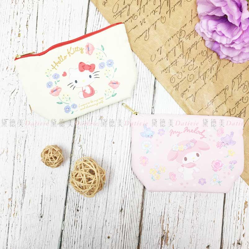 雙面化妝包 三麗鷗 kitty 美麗蒂 sanrio 收納包 日本進口正版授權