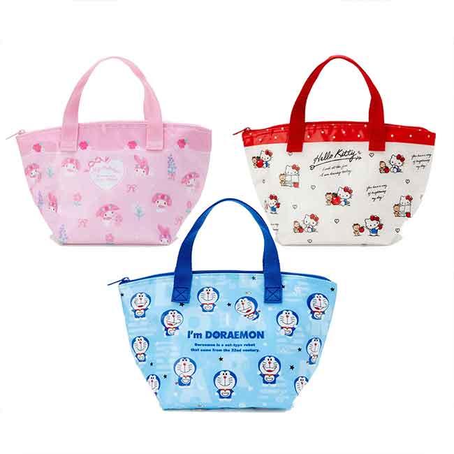 拉鍊保溫冷手提餐袋 三麗鷗 美樂蒂 kitty 哆啦A夢 保冷包 日本進口正版授權