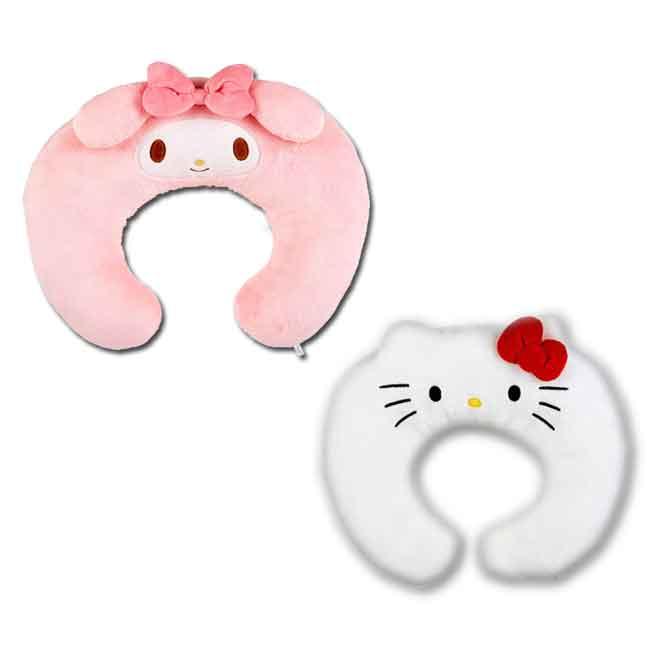 三麗鷗大臉U型靠墊 Sanrio 美樂蒂 KTTY 靠枕 日本進口正版授權