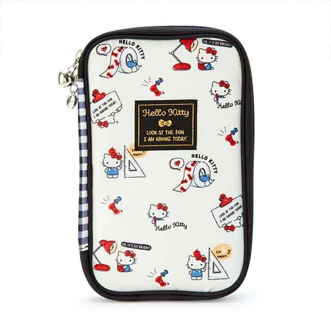 防潑水多功能收納包 三麗鷗 KITTY 護照包 日本進口正版授權