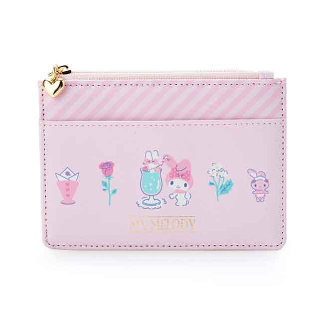 三麗鷗皮革票卡零錢包 sanrio 美樂蒂 票卡套夾 日本進口正版授權