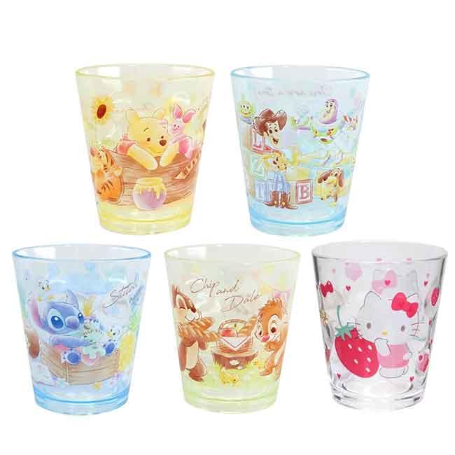 壓克力水杯 Disney 奇奇蒂蒂 小熊維尼 史迪奇 玩具總動員 KITTY 杯子 日本進口正版授權