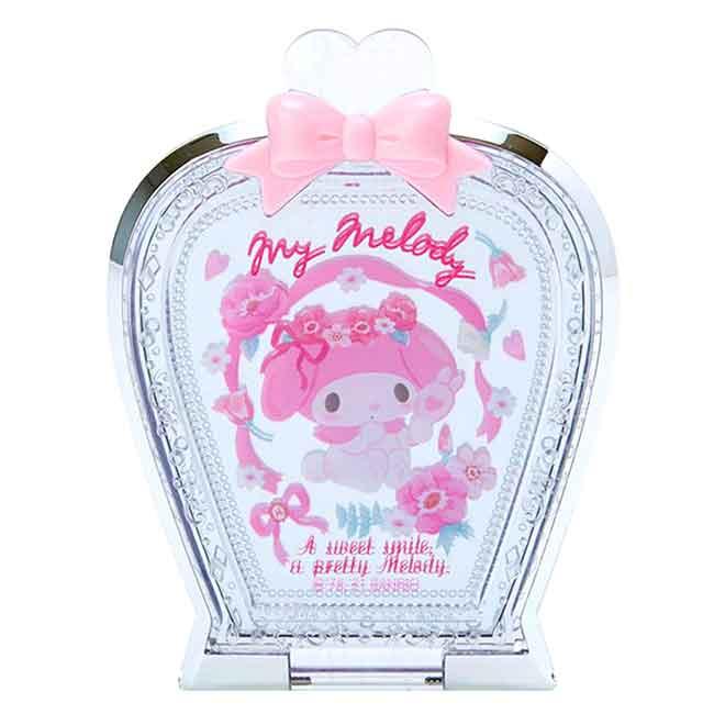 香水瓶造型摺疊鏡 三麗鷗 美樂蒂 MY MELODY Sanrio Original 鏡子 日本進口正版授權
