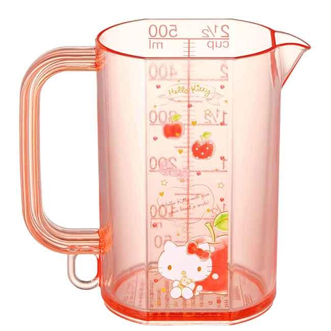 單耳透明塑膠烘焙量杯 日本 凱蒂貓 HELLO KITTY SKATER 日本進口正版授權