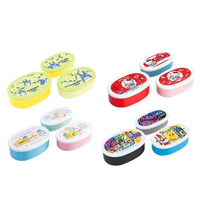 橢圓保鮮盒 日本 KITTY 角落生物 龍貓 寶可夢 SKATER 三入便當盒 日本進口正版授權