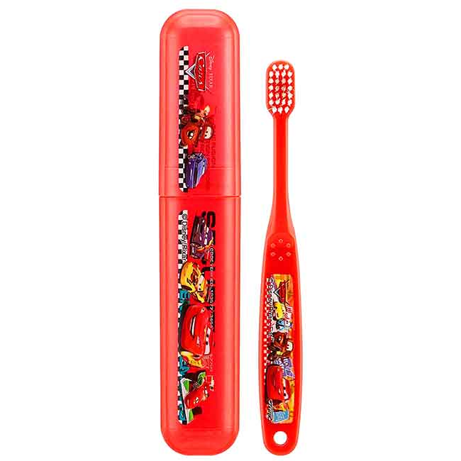 兒童牙刷 附盒 迪士尼 皮克斯 汽車總動員 3~5歲 CARS DENTAL KIT 乳齒期牙刷 日本進口正版授權